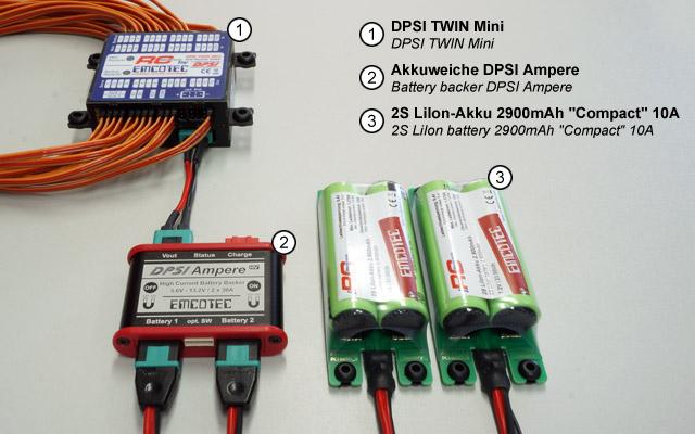 DPSI TWIN Mini mit Akkuweiche DPSI Ampere